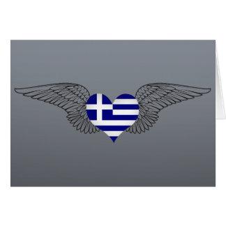 I Love Greece -wings Greeting Card