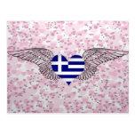 I Love Greece -wings Postcard