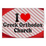 I love Greek Orthodox Church Stationery Note Card