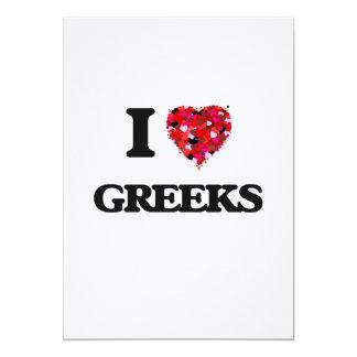 I Love Greeks 13 Cm X 18 Cm Invitation Card