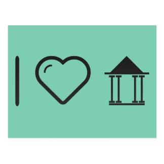 I Love Greeks Postcard