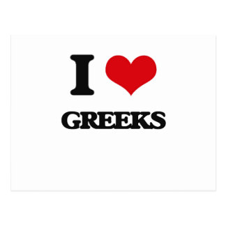I love Greeks Post Cards