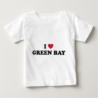 I Love Green Bay Wisconsin Baby T-Shirt