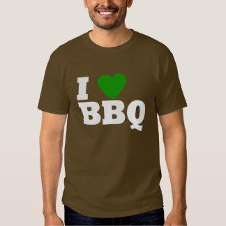 I Love Green BBQ Tee Shirt