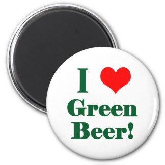 I Love Green Beer Fridge Magnet