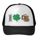 I Love Green Beer Gift Hat