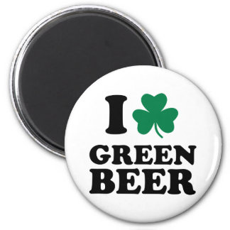 I love green beer refrigerator magnet