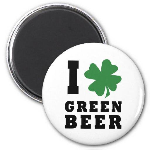 I Love Green Beer Magnets