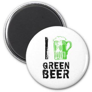 I Love Green Beer Refrigerator Magnets