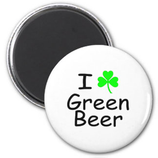 I Love Green Beer St Patricks Day 6 Cm Round Magnet