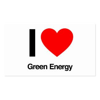 i love green energy business card