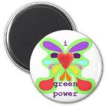 I love green power fridge magnets