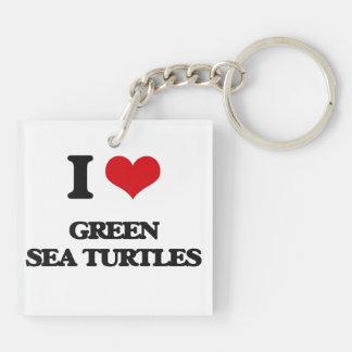 I love Green Sea Turtles Acrylic Keychains