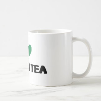 I Love green tea Basic White Mug