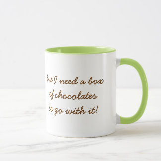 I Love Green Tea but I Need Chocolate!-Humor Mug
