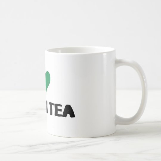 I Love green tea Coffee Mug