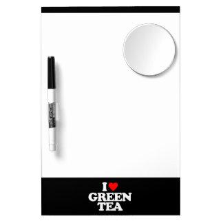 I LOVE GREEN TEA DRY ERASE WHITEBOARDS