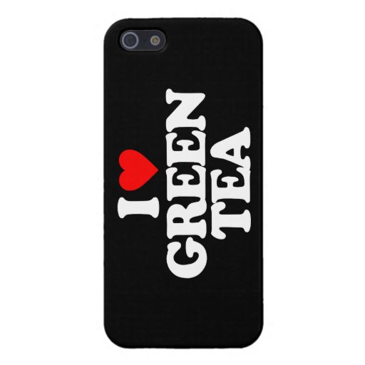 I LOVE GREEN TEA COVERS FOR iPhone 5