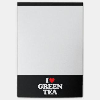 I LOVE GREEN TEA POST-IT NOTES