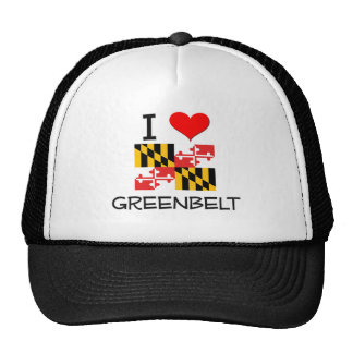 I Love Greenbelt Maryland Trucker Hats