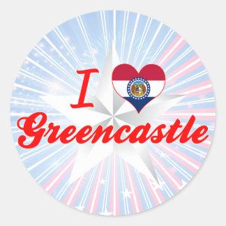 I Love Greencastle, Missouri Round Stickers