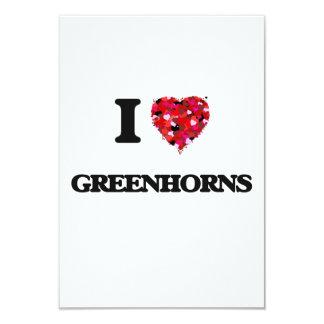 I Love Greenhorns 9 Cm X 13 Cm Invitation Card
