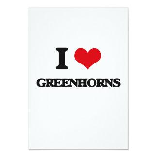 "I love Greenhorns 3.5"" X 5"" Invitation Card"