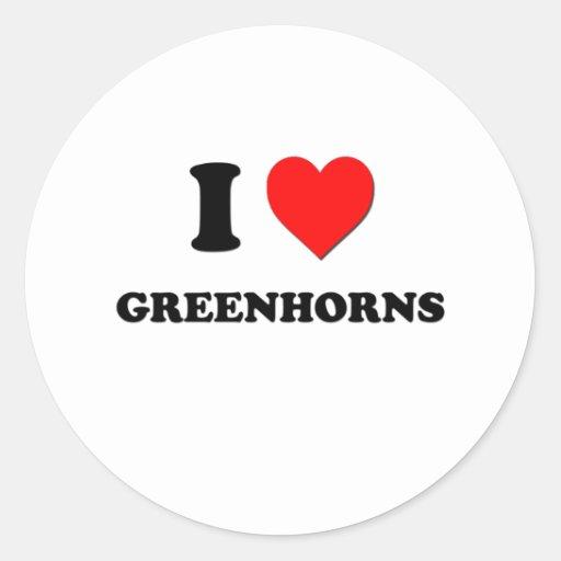 I Love Greenhorns Stickers