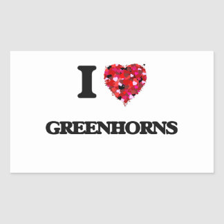 I Love Greenhorns Rectangular Sticker