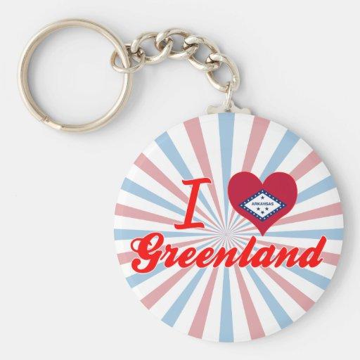 I Love Greenland, Arkansas Keychain