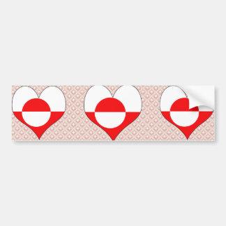 I Love Greenland Bumper Sticker
