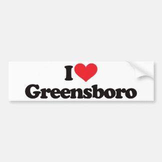 I Love Greensboro Bumper Sticker