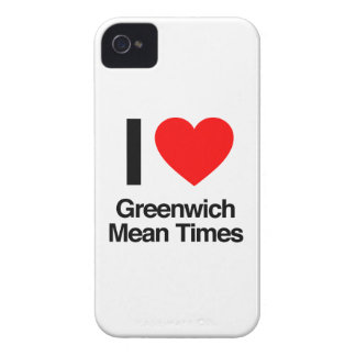 i love greenwich mean times iPhone 4 cover