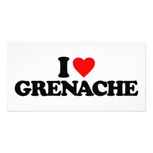 I LOVE GRENACHE PERSONALIZED PHOTO CARD