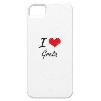 I Love Greta artistic design Case For The iPhone 5
