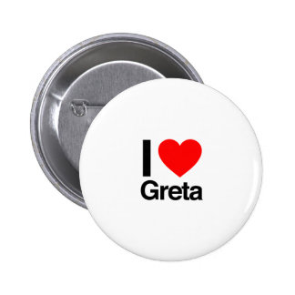 i love greta pinback buttons