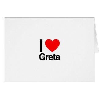 i love greta greeting card