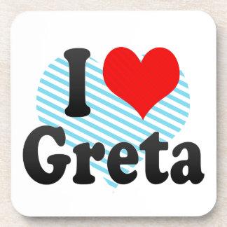 I love Greta Beverage Coaster