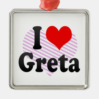 I love Greta Christmas Ornament