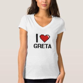 I Love Greta Digital Retro Design T Shirt