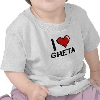 I Love Greta Digital Retro Design Shirt