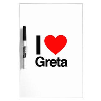 i love greta dry erase whiteboard