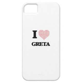 I love Greta (heart made from words) design iPhone 5 Case