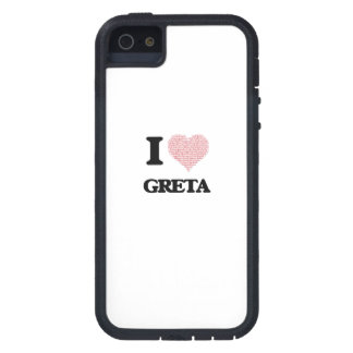 I love Greta (heart made from words) design iPhone 5 Cover