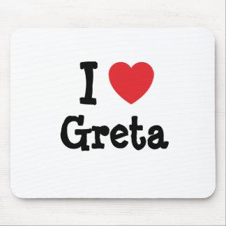I love Greta heart T-Shirt Mouse Mat