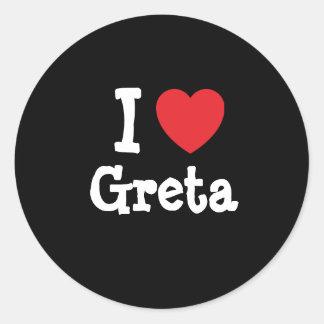 I love Greta heart T-Shirt Sticker