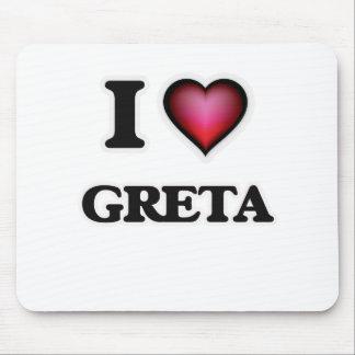 I Love Greta Mouse Pad