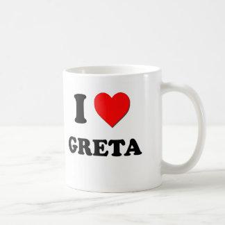 I Love Greta Coffee Mugs