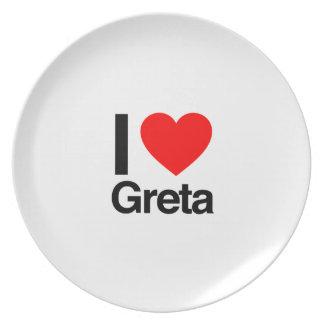 i love greta dinner plates