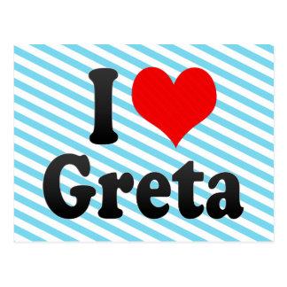 I love Greta Post Card